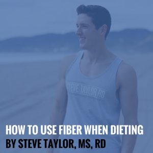 How to Use Fiber When Dieting by Steve Taylor, MS, RD