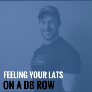 Feeling Your Lats On a DB Row