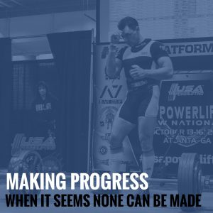 Making Progress When It Seems None Can be Made