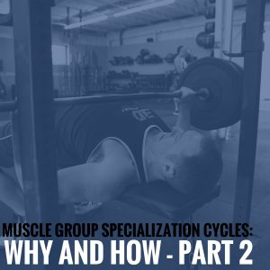 Muscle Group Specialization Cycles: Why and How – Part 2